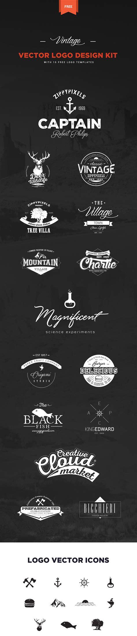 free logo design kit ミニマルデザインに便利な無料ロゴテンプレート