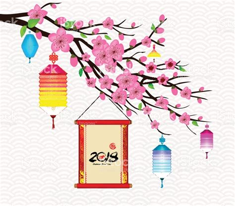 new year flower market 2018 happy new year 2018 blossom greeting card new year