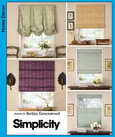 simple pattern for roman shades simplicity 3910 roman shades