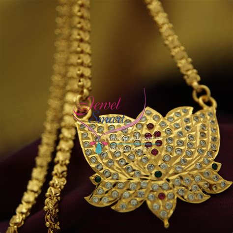 cs1876 south indian lotus traditional jewellery american