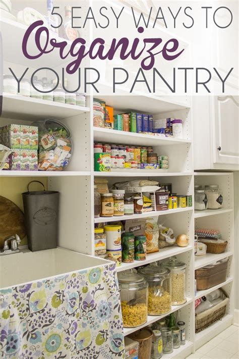 Ideas To Organize Pantry by Five Easy Ways To Organize Your Pantry Unskinny Boppy