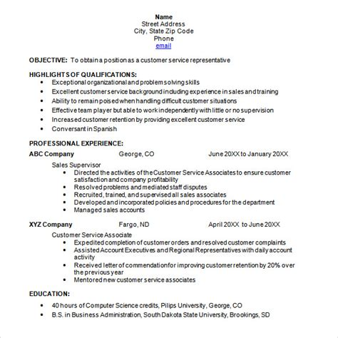 chronological resume template 8 chronological resume templates documents in