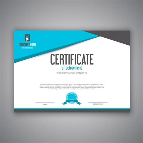 modern design for a certificate vector free download