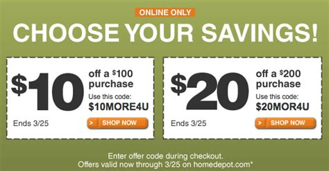 home depot coupons 2015 spotify coupon code free
