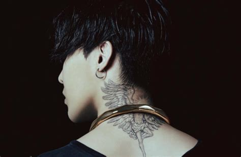 g dragon new tattoo on neck gdragon tattoo tumblr