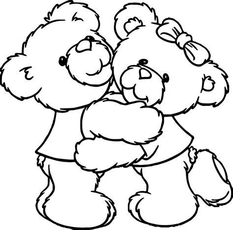 bear hug coloring pages boy girl bear hug coloring page wecoloringpage