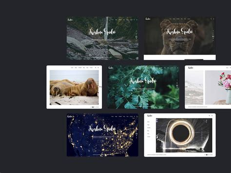 kreshna photography portfolio template freebie download