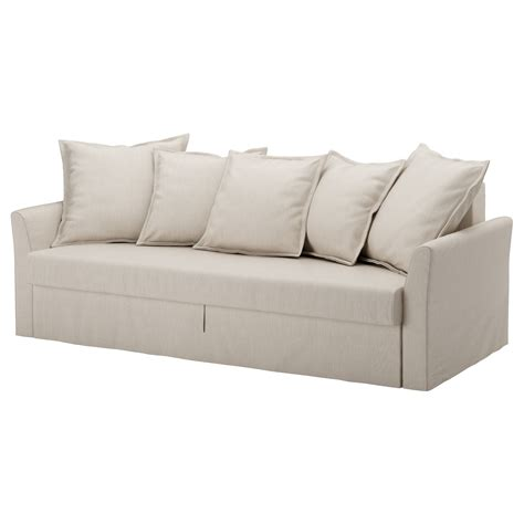 beige futon sofa bed holmsund three seat sofa bed nordvalla beige ikea