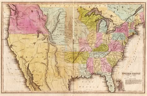 united states map showing arkansas u s map circa 1820 encyclopedia of arkansas