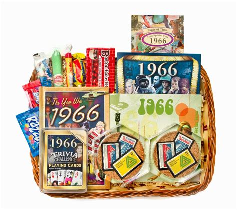 Wedding Anniversary Gift Baskets 50th wedding anniversary gift basket with 1966 sts
