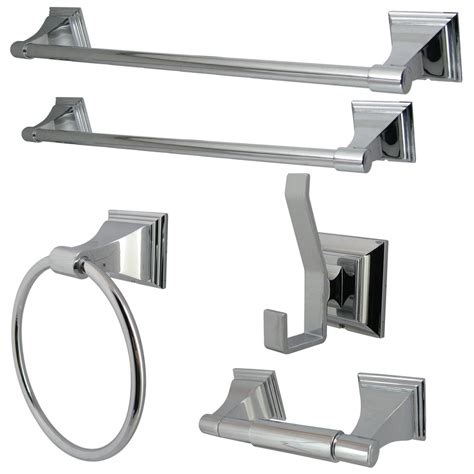 Chrome Bathroom Hardware shop kingston brass 5 classic chrome decorative bathroom hardware set at lowes