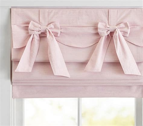 bow curtains bow valance roman shade pottery barn kids