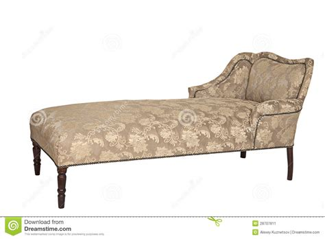 white vintage couch antique couch over white stock image image 28707811
