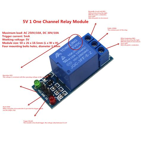 Lc Relay 1 Channel 5v Volt Dc Output 25 Kode Fd10316 1 smart electronics 5v 1 one channel relay module low level for scm household appliance