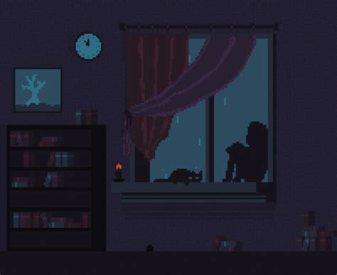day one bedroom dancing alone alternative animation cartoon cat animated gif