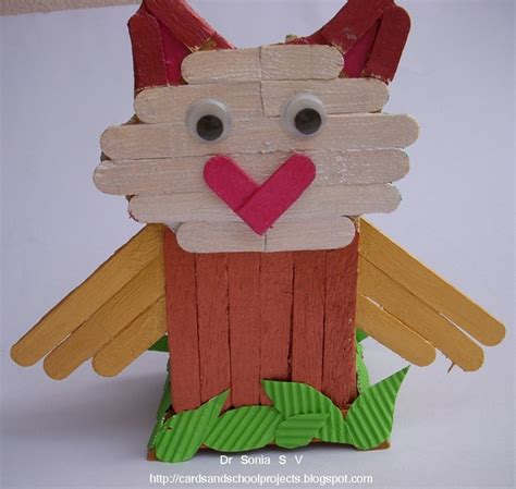 with craft sticks cards crafts projects popsicle stick craft