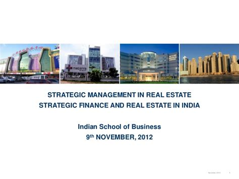 Best Real Estate Finance Mba by Research Report On Strategic Finance Real Estate In India