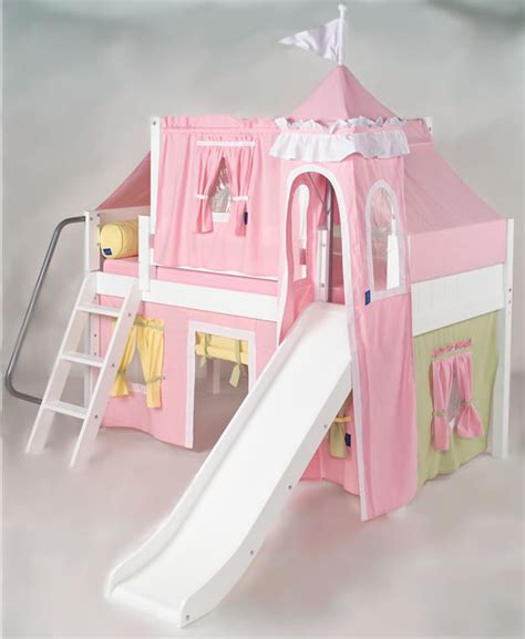 Pink Green Yellow Princess Castle Bed With Slide By Princess Bed With Slide
