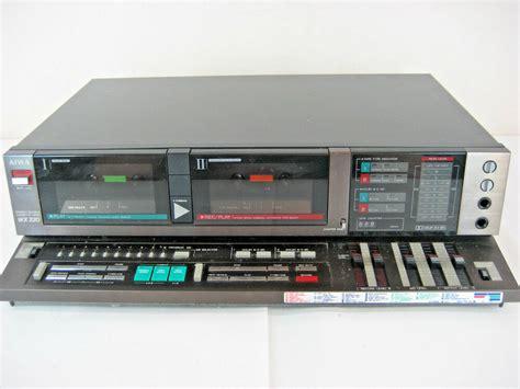 aiwa cassette player aiwa 220wx professional dual cassette deck