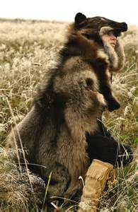 Faux Bearskin Rug The Guardian Wolf Headdress By Naturepunk On Deviantart