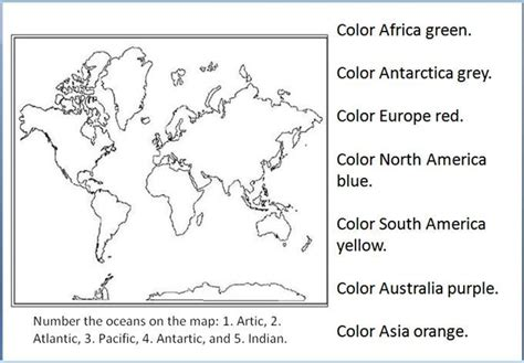 geography blog geography worksheets continents  oceans