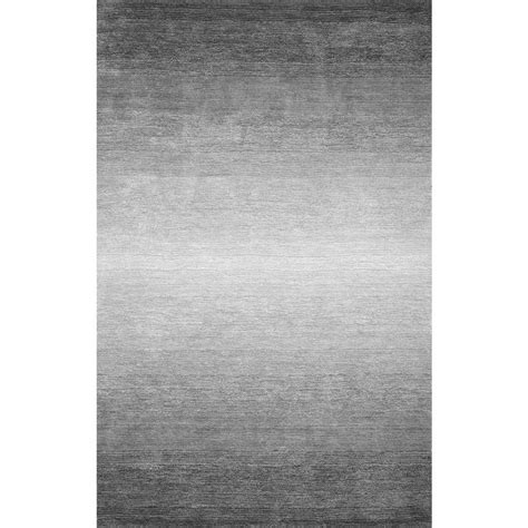Karpet 508 Grey nuloom ombre bernetta grey 5 ft x 8 ft area rug awve18a