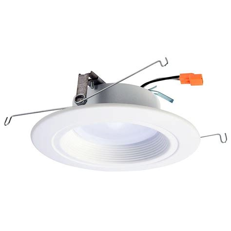 recessed led retrofit light trim halo 5 in and 6 in 3000k matte white recessed led