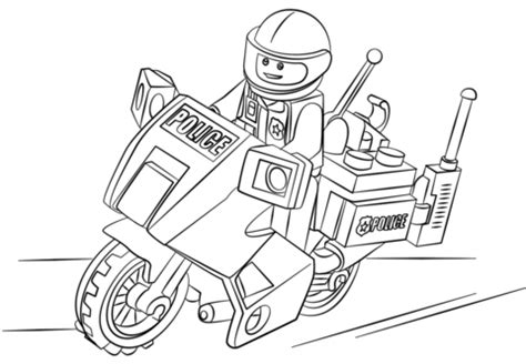 coloring page lego police lego moto police coloring page free printable coloring pages