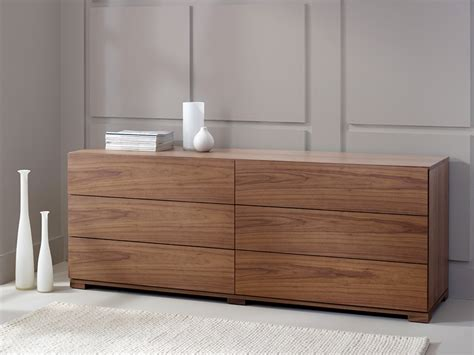walnut bedroom drawers contemporary bedroom furniture six 6 drawer chest