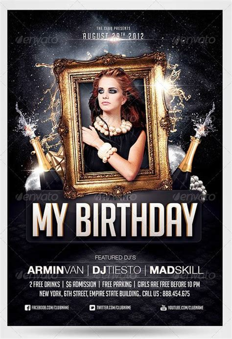top 10 best birthday psd flyer templates