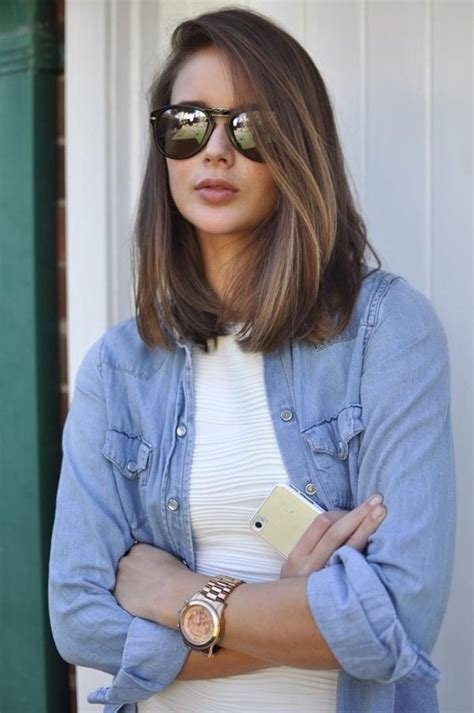 Slighty Shorter Thansholder Length Womens Hair Style   30 gorgeous shoulder length hairstyles to try this year