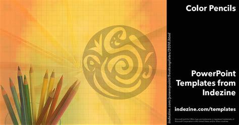 Color Pencils 04 Powerpoint Templates Indezine Powerpoint Templates