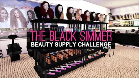sims 4 cc beauty salon the sims 4 speed build the black simmer beauty supply