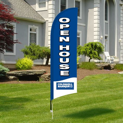 real estate open house flags coldwell banker real estate signs deesign