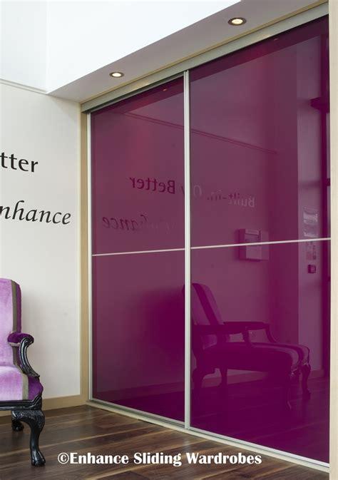 beautiful purple glass sliding wardrobe bedroom wardrobe