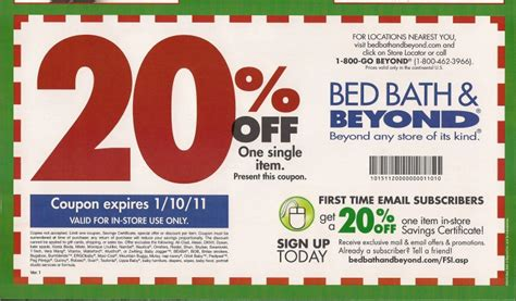 coupons for bed bath and beyond in store bed bath and beyond free coupon and shopping guide