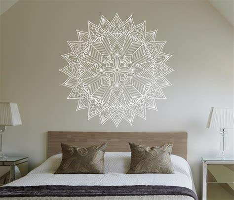 Jcb Wall Stickers adesivo de parede mandala branca 60cm lojadecoreacasa