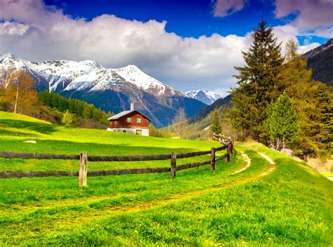 spring landscape spring landscape in the swiss alps jigsaw puzzle in puzzle