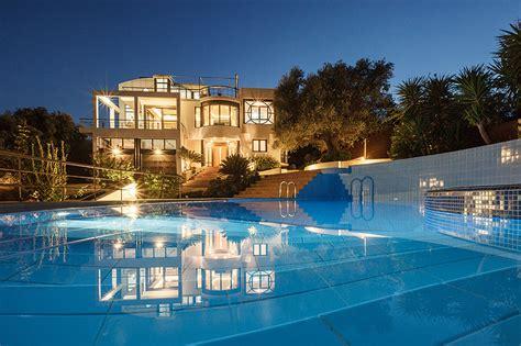 holiday luxury villa joy pool   extras chania crete