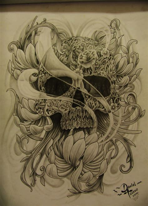 body design tattoo toledo black skull by daniel toledo by toledotattoo on deviantart