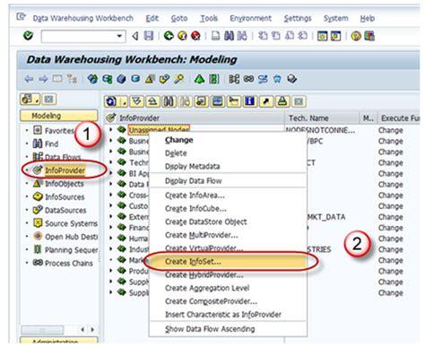 sap jsp tutorial sap infoset tutorial what is create joins