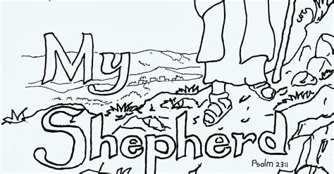 Coloring Pages For Kids By Mr Adron The Lord Is My The Lord Is My Shepherd Coloring Page
