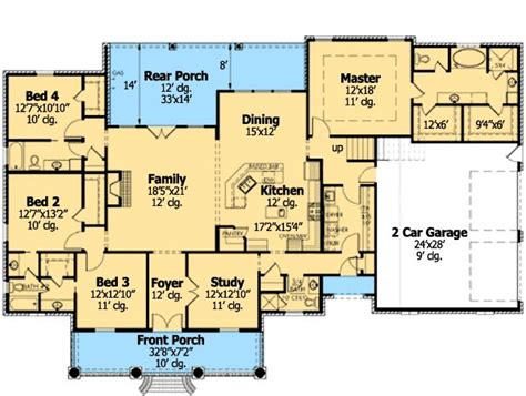 country home plan with bonus room ranch style