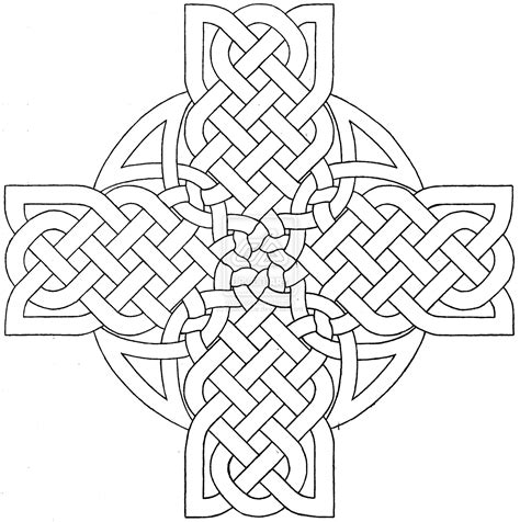 cross mandala coloring pages celtic cross design 3 by baalthezzar on deviantart