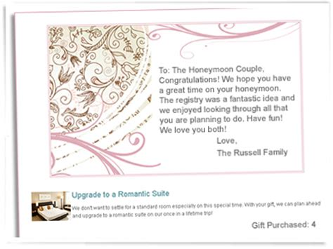 Honeymoon Gift Cards - gift registry wedding website details included 2013 wedding invitation