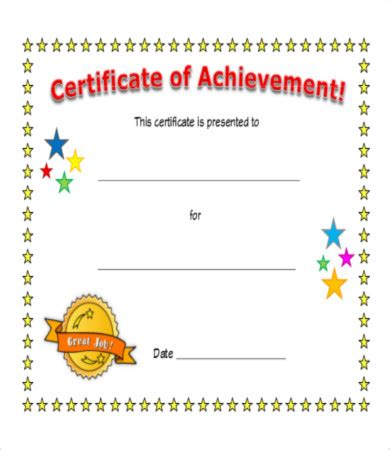 free certificate of achievement template certificate of achievement 8 free pdf psd jpg format