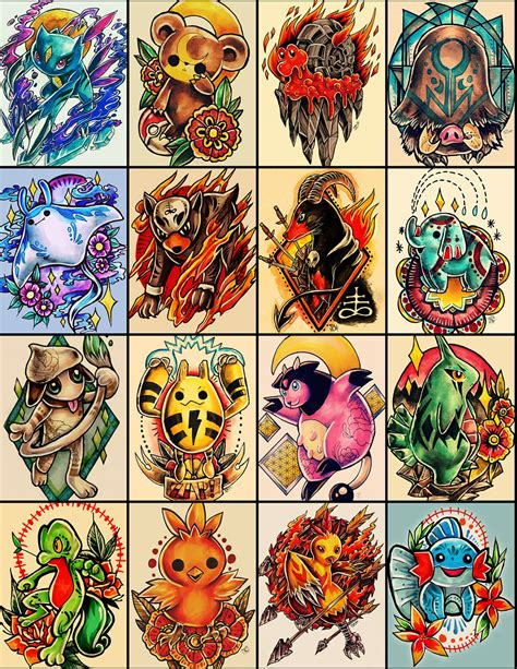 pokemon tattoo designs designs on behance