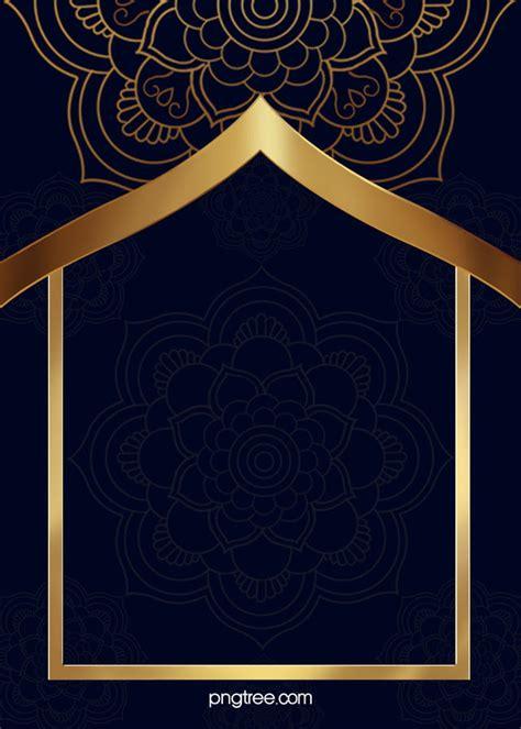 golden islamic ramadan border background golden ramadan
