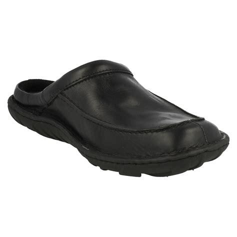 mens leather mule slippers mens clarks leather mule slippers kite vasa ebay