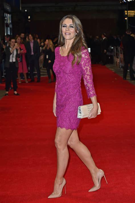 Dres Elizabeth elizabeth hurley in pink dress at premiere quot the rewrite